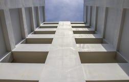 Abstrakcjonistyczny tło budynki zewnętrzni. Zdjęcia Stock