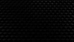 Abstrakcjonistyczny tło - czarni honeycombs świadczenia 3 d royalty ilustracja
