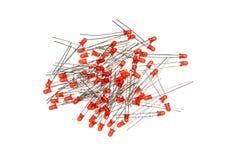Abstrakcjonistyczny tło czerwień LEDs Zdjęcie Royalty Free