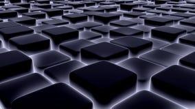 Abstrakcjonistyczny tło 3d bloki, sześciany, pudełko, 3d odpłaca się Zdjęcia Stock