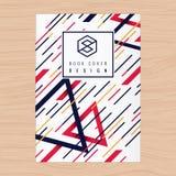 Abstrakcjonistyczny tło dla Książkowej pokrywy, Plakata Ulotka, Firma profil, sprawozdanie roczne projekta układu szablon w A4 ro Fotografia Stock