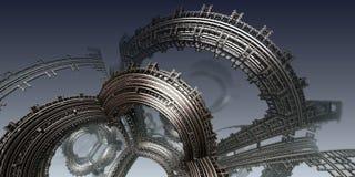 Abstrakcjonistyczny tło, fantastyczny 3D ilustracji