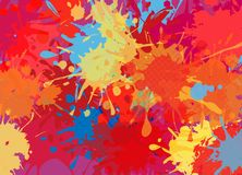 Abstrakcjonistyczny tło kolor plamy farby royalty ilustracja