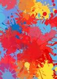 Abstrakcjonistyczny tło kolor plamy farby ilustracji