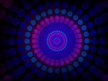 Abstrakcjonistyczny tło - kolorowy okręgu wzór z czarnym grunge Zdjęcia Royalty Free