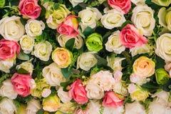Abstrakcjonistyczny tło kwiaty Obrazy Royalty Free