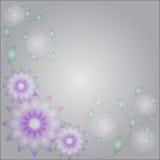 abstrakcjonistyczny tło kwitnie liść Obrazy Stock