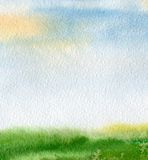 abstrakcjonistyczny tło malująca akwarela Zdjęcie Royalty Free