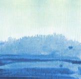 abstrakcjonistyczny tło malująca akwarela Zdjęcia Royalty Free