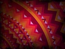 Abstrakcjonistyczny tło mandala styl - czerwień i pomarańcze z czarnym grunge - ilustracji
