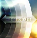 Abstrakcjonistyczny tło, numerowa linia Fotografia Stock