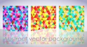 Abstrakcjonistyczny tło od barwiących trójboków Zdjęcia Stock