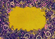 Abstrakcjonistyczny tło od rygli, śruby, dokrętki Obraz Royalty Free