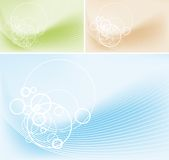 abstrakcjonistyczny tło okrąża linie ilustracja wektor