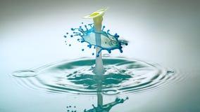 Abstrakcjonistyczny tło pluśnięcie kolor woda pojęcie sztuka zdjęcia royalty free