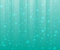 Abstrakcjonistyczny tło podwodny z lotniczymi bąblami światło słoneczne Wektorowa ilustracja, projekta element, tło ilustracja wektor