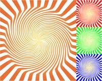 abstrakcjonistyczny tło promienieje pokręconego Zdjęcie Stock