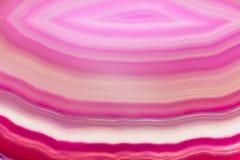 Abstrakcjonistyczny tło, różowa agata plasterka kopalina Obrazy Stock