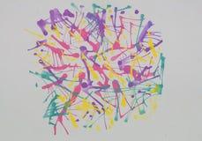 Abstrakcjonistyczny tło robić od dmuchać wodnego koloru technikę Fotografia Stock