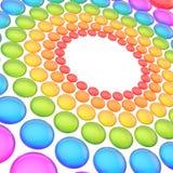Abstrakcjonistyczny tło robić sfery Obraz Royalty Free