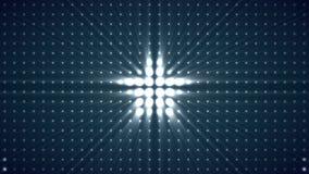 Abstrakcjonistyczny tło ruch z gwiazdami różni rozmiary, ruchy i kolory robi kropkom, dynamicznym i kolorowym gwiazda zbiory wideo
