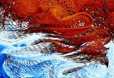 Abstrakcjonistyczny tło, rybak sieć Obraz Stock