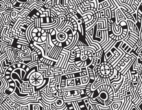 abstrakcjonistyczny tło rysujący ręki wektor Fotografia Royalty Free