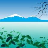 Abstrakcjonistyczny tło seascape ilustracji
