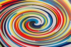 Abstrakcjonistyczny tło składa się koncentrycznych okręgi w naszłych kolorach fotografia royalty free