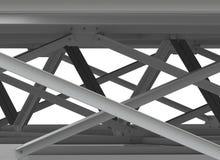 Abstrakcjonistyczny tło stalowe ramy. Przemysłowy tło Zdjęcia Stock