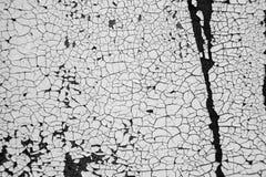 Abstrakcjonistyczny tło, stara krakingowa tynk ściana, czarny i biały Zdjęcia Stock