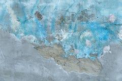 Abstrakcjonistyczny tło stary cementowy błękit malował ścianę Obraz Stock