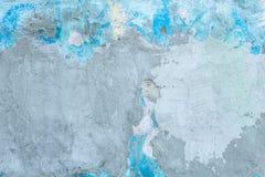 Abstrakcjonistyczny tło stary cementowy błękit malował ścianę Zdjęcia Stock