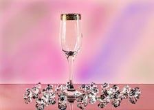 Abstrakcjonistyczny tło szkło i kryształy Obrazy Stock