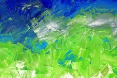 Abstrakcjonistyczny tło w błękicie i zieleni brzmieniach zdjęcia stock