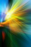 Abstrakcjonistyczny tło w kolorze żółtym, błękicie i zieleni, ilustracji