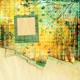 Abstrakcjonistyczny tło w stylu mieszanych środków z f Zdjęcia Stock