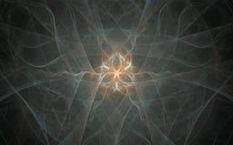 Abstrakcjonistyczny tło wizerunek fantastyczny symbol biel, brown na tle szarość dymi Zdjęcia Royalty Free