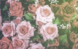 Abstrakcjonistyczny tło wzrastał kwiaty Zdjęcie Royalty Free