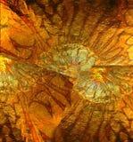 Abstrakcjonistyczny tło, Złociści żółci pomarańcze wzory Fotografia Royalty Free