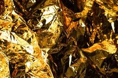 Abstrakcjonistyczny tło złoty kolor od papieru fotografia royalty free