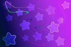 Abstrakcjonistyczny tło z światła i gwiazdy pojęciem Zdjęcie Royalty Free
