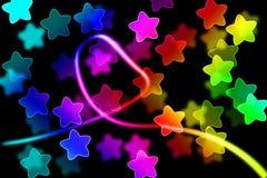 Abstrakcjonistyczny tło z światła i gwiazdy pojęciem Zdjęcie Stock