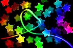 Abstrakcjonistyczny tło z światła i gwiazdy pojęciem Zdjęcia Stock