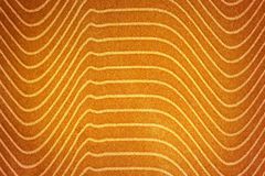 Abstrakcjonistyczny tło z żółtą teksturą, aksamitna tkanina, kreskowy gra Zdjęcie Stock