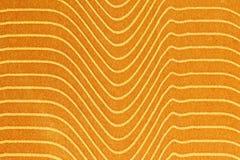 Abstrakcjonistyczny tło z żółtą teksturą, aksamitna tkanina, kreskowy gra Fotografia Royalty Free