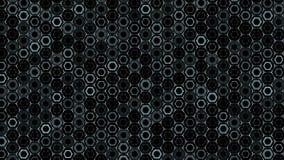 Abstrakcjonistyczny tło z animacją falowa mozaika sześciokąty tło technologiczny ilustracja wektor