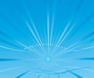 Abstrakcjonistyczny tło z błękitnym słońcem Fotografia Royalty Free