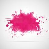 Abstrakcjonistyczny tło z menchii farby pluśnięciami. Zdjęcie Royalty Free