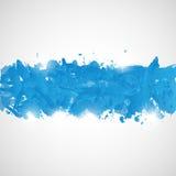 Abstrakcjonistyczny tło z błękitnymi farb pluśnięciami. Obraz Royalty Free